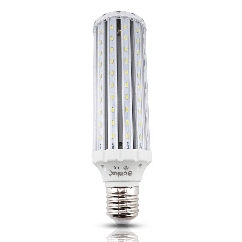 Bonlux LED Corn Bulb Mogul Screw Base E39 E40, 45W AC 85-265V Daylight 6000K, Street and Area Lighting, High Bay Retrofit LED Bulb for Garden Path Garage Factory Warehouse Barn Porch Backyard by Bonlux