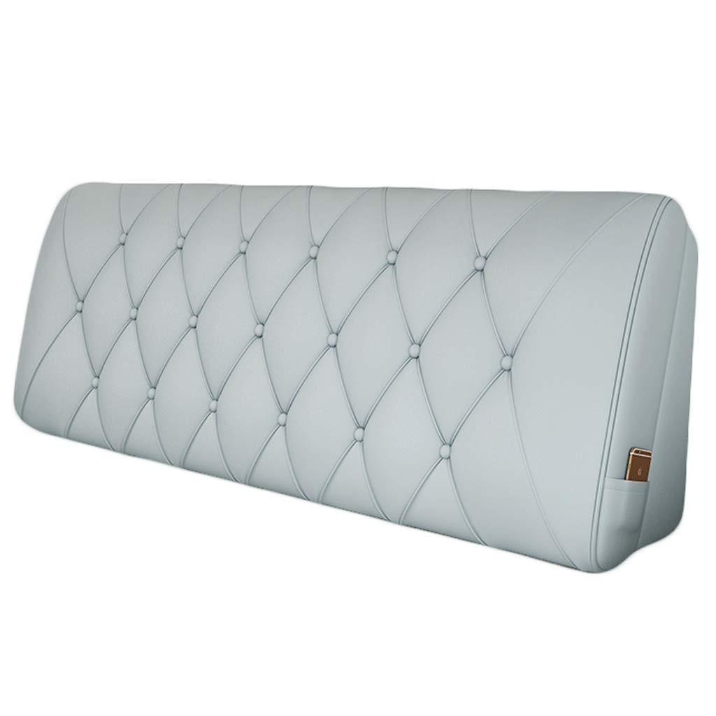 三角形のくさびベッドのあと振れ止めの枕大きい革読書ステレオのベッドサイドクッションピンクブルーグレー で利用可能 (色 : 青, サイズ さいず : 120*58cm) B07R2L2WY9 青 120*58cm
