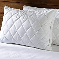 Coca Industries Hi Flipper Border Pillow (Pack of 2, 17 x 27-inch, White)