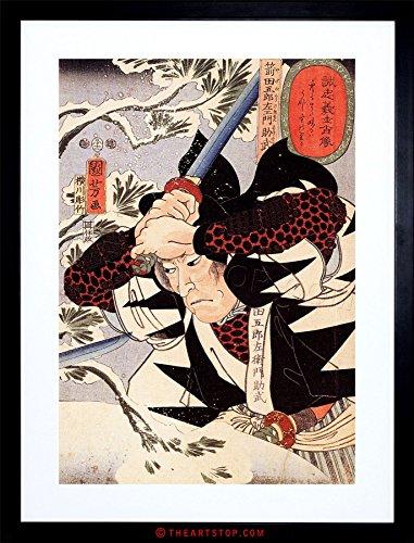 The Art Stop Painting TOMINOMORI Samurai Sword Utagawa KUNIYOSHI Japan Framed Print F97X4988