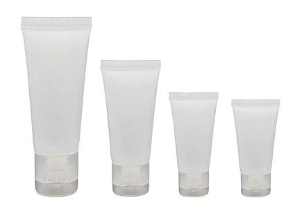 20 unidades de transparente vacío rellenable plástico suave tubos de muestras de cosméticos tarros de maquillaje