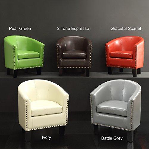 Millbury Home Isabela Arm Club Chair Pu Leather Barrel