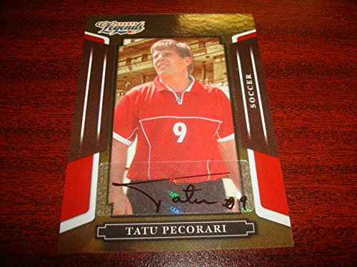 2008 Donruss Certified Football - Tatu Pecorari Soccer 2008 Donruss Legends 203/539 Signed Certified Autograph M7