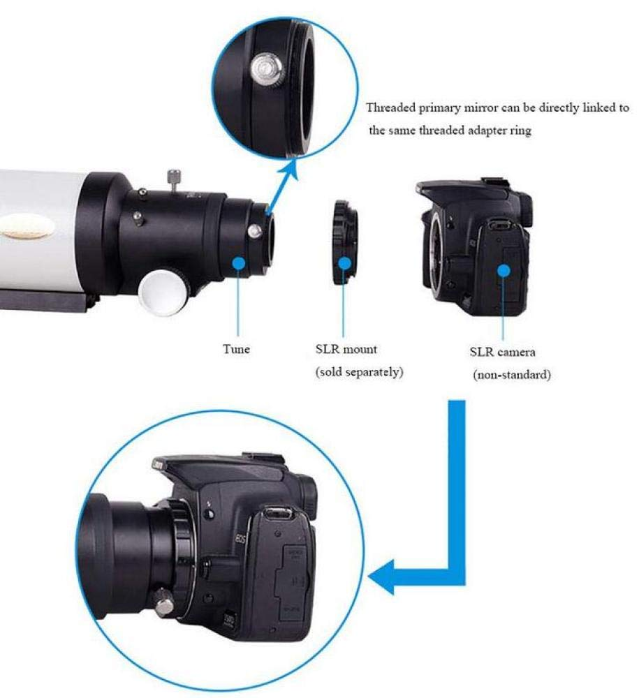 CTO Telescope C5 F500 F/5.6 SLR Telephoto Photographic Headportable Tabletop M42X0.75 Thread for Beginners, Kids,A,Telescope by CTO (Image #4)