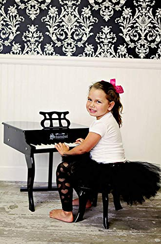 Schoenhut 30-Key Fancy Baby Grand with Bench,Black by Schoenhut (Image #1)