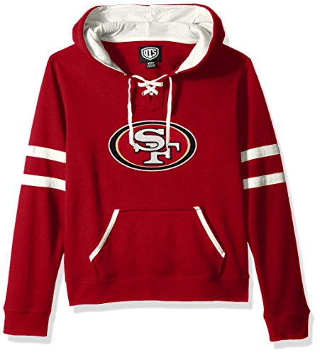 NFL San Francisco 49Ers Women's Ots Grant Lace Up Pullover Hood, X-Large, Red
