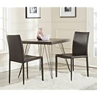 Safavieh Home Collection Karna Modern Brown Dining Chair (Set of 2)