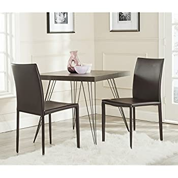 Amazon Com Baxton Studio Leather Dining Chair Set Of 2
