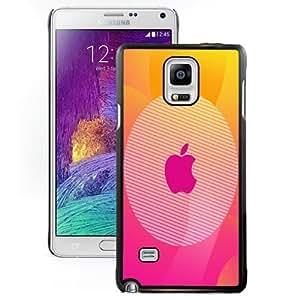 Beautiful Unique Designed Cover Case For Samsung Galaxy Note 4 N910A N910T N910P N910V N910R4 With Pinky Apple Black Phone Case