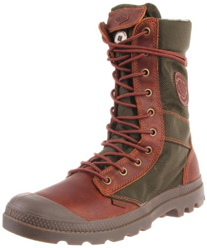 Palladium Men's Pampa Tactical Boot,Brown/Olive,8.5 M US