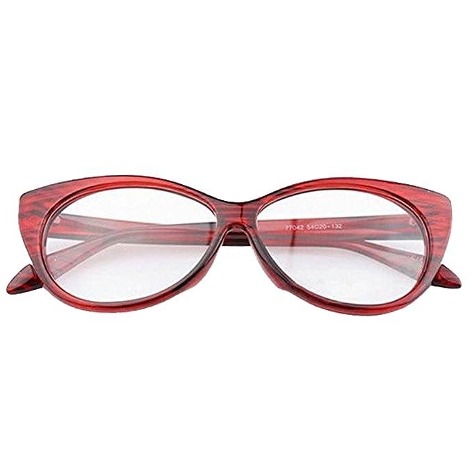 Amazon.com: anteojos de Ojo de mujer rojo rayas mujeres sexy ...