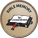 Ten Commandments (Deut 5:7-21) Bible Memory Award, 1 inch dia Gold Pin ''Bible Memory Achievements Collection'' by Keepsake Awards