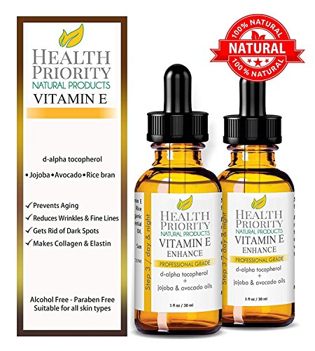 100% Natural & Organic Vitamin E Oil For Your Face & Skin, Unscented - 15,000/30,000 IU - Heals Stretch Marks & Surgical Scars. Essential Drops Are Lighter Than Cream, Gel. Raw Vit E Extract Sunflower