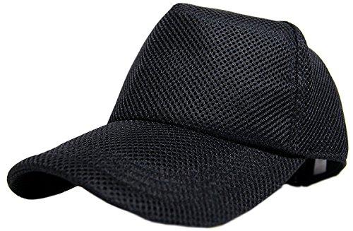[ビッグワッチ] 無地スポーツメッシュキャップ CPMG-01 メンズ ブラック 大きいサイズ