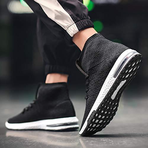 Chaussures Aérien Haut La Tissage Nouveau Noir Taille Baskets Chaussettes lin Mode Coussin Hommes Day Vieux Tendance Liquidation Plus gf0wq