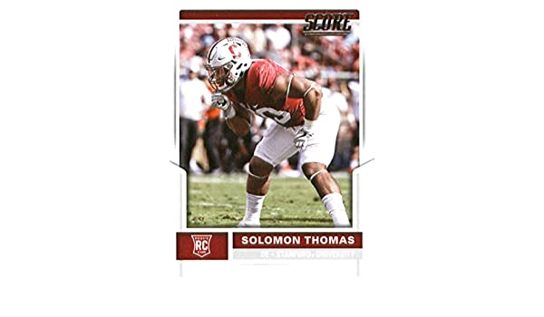 361828d8e00 Amazon.com  2017 Score  339 Solomon Thomas Stanford Cardinal Rookie  Football Card San Francisco 49Ers 1st Round Pick  3  Collectibles   Fine Art