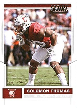 6c49b9ba11e 2017 Score  339 Solomon Thomas Stanford Cardinal Rookie Football Card San  Francisco 49Ers 1st Round