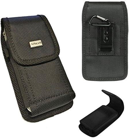 Samsung Galaxy J3 (2016) [aiscell] Pochette Plus Taille manches latéraux Housse de transport en cuir avec clip ceinture (compatible avec téléphone ...