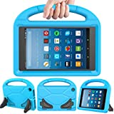 LEDNICEKER Kids Case for Fire HD 8 2018/2017 - Light Weight Shock Proof Handle Friendly Convertible Stand Kids Case for Fire HD 8 inch Display Tablet (7th & 8th Generation Tablet, 2017 & 2018 Release) - Blue