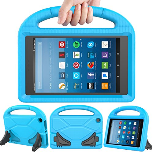 LEDNICEKER Kids Case for Fire HD 8 2018/2017 - Light Weight Shock Proof Handle Friendly Convertible Stand Kids Case for Fire HD 8 inch Display Tablet (7th & 8th Generation - 8 Tablet Case Kids Inch