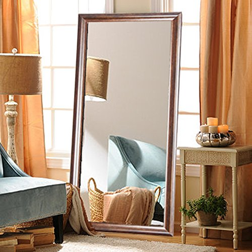 BrandtWorks Vintage Hill Full Length Floor Vanity Wall Mirror, 31.5 x 70.5, Bronze/Copper (Floor Bronze Mirror)
