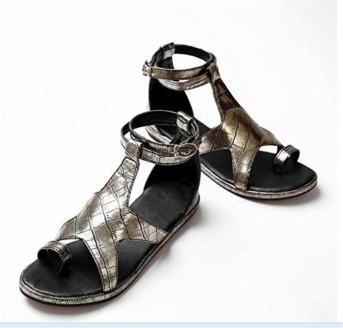 De Yin Zapatillas Fondo Plano Señoras Playa De Zapatos YUCH Sandalias OwBzx0