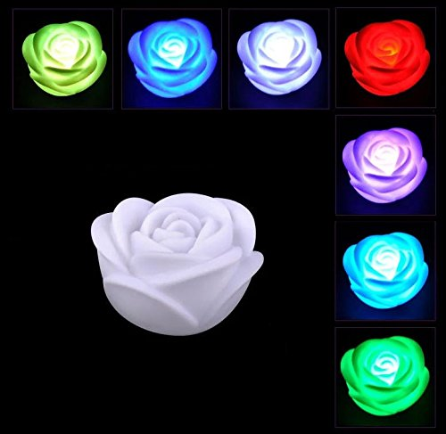 Led Color Changing Rose Shaped Light in US - 1