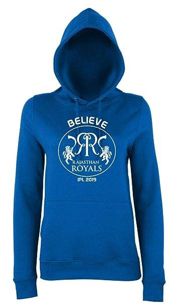 Believe Rajasthan Royals IPL 2019 Cricket Hoodie Kids Royal