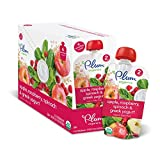 Plum Organics Stage 2, Organic Baby Food, Apple, Raspberry, Spinach and Greek Yogurt, 3.5 ounce pouch (Pack of 12)