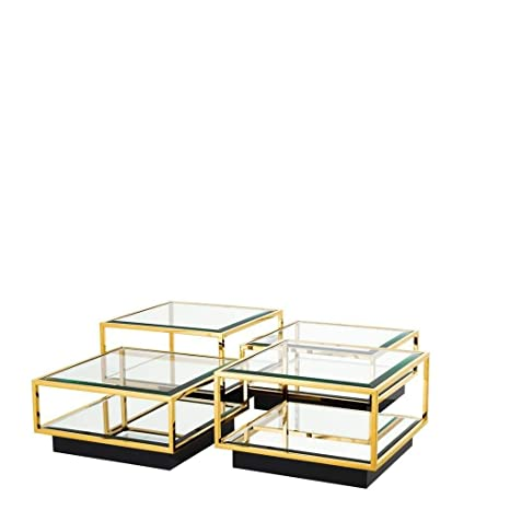 Amazoncom Gold Coffee Table Eichholtz Tortona Square