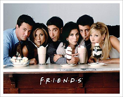 Friends Milkshakes TV Romantic Sitcom Television Show Postcard Poster Print, Unramed 11x14