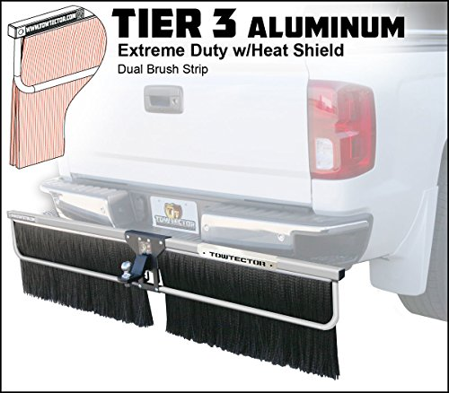 Towtector Aluminum Tier 3 Mud Flap 29618-T3ALHS Extreme Duty Dual Brush Strip with Heat Shield - 96