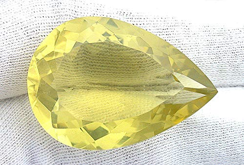 59.60 Carat Pear Brazilian Citrine Gem Stone Gemstone Faceted Natural