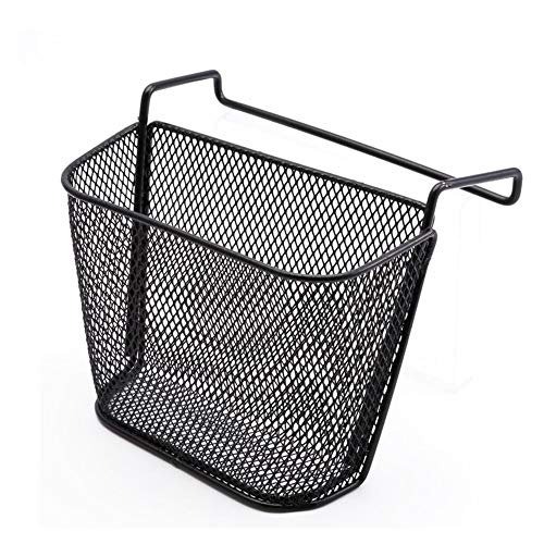 - Fitlyiee Iron Wire Cubicle Corner Small Basket Office Hanging Storage Organizer No Screws for Home Office Accessories (Black)