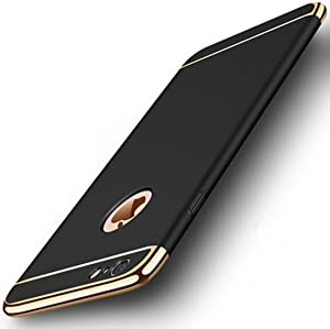 shenzkeji Phone Protective Hard Case for Apple iPhone 6 Plus and iPhone 6s Plus, Anti-Scratch, Anti-Fingerprints, Non-Slip, Ultra Thin and Slim, Easy to Install and Remove(5.5 Inch, Black)