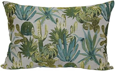 Brentwood Originals Kaktos Pillow, 14 x 20 , Aqua