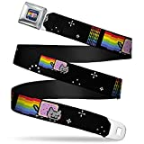 Buckle-Down Seatbelt Belt - NYAN Repeat2 w/Nyan Cat Black - 1.5' Wide -...
