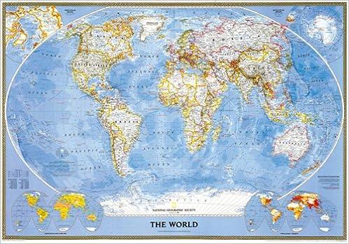 Carte Du Monde National Geographic.Carte Du Monde Politique Classique Plastifiee En Francais