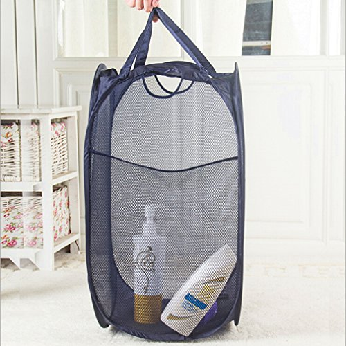 SOURBAN Deluxe Mesh Pop-Up Laundry Hamper With Side Pocket And - Deluxe Hamper