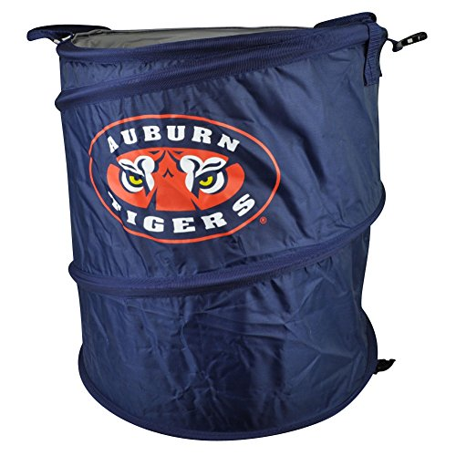 NCAA Auburn Tigers 3 in 1 Collapsible Trash Can Hamper Cooler Blue Beach Home (New York Jets Hamper compare prices)