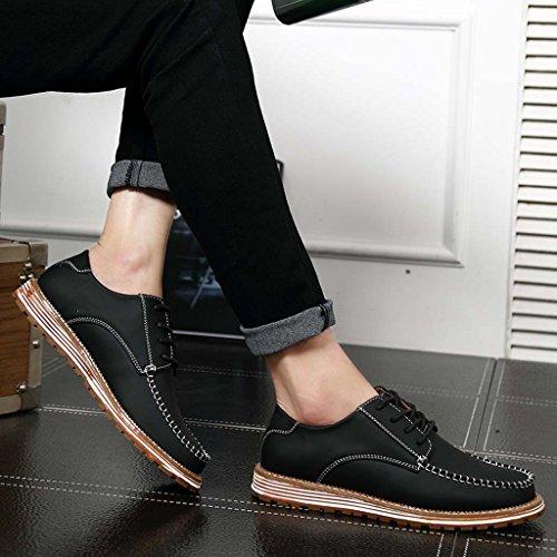 ZXCV Zapatos al aire libre Zapatos de hombre zapatos de los hombres del ocio de la tendencia planos con la cabeza redonda Negro