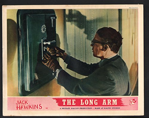 Long Arm Lobby Card-Jack Hawkins breaking into a safe