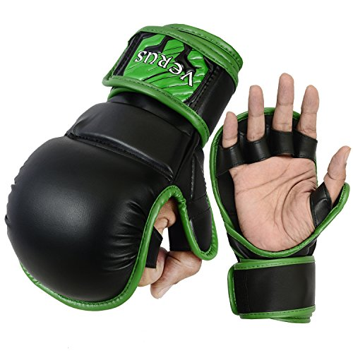 Verus Grappling Training MMA Boxing Sparring UFC Punching Cage Fighting Gloves (Green, Large/XLarge)
