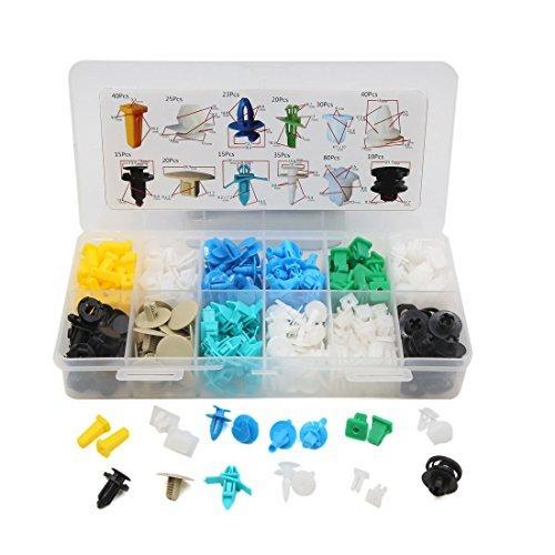 Amazon.com: eDealMax 353 piezas DE 12 tipo de inserción de plástico en el Interior del remache Clips Panel de la puerta del coche: Automotive