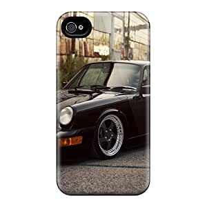 Rugged Skin Cases Covers For Iphone 4/4s- Eco-friendly Packaging(porsche 911 Carrera)