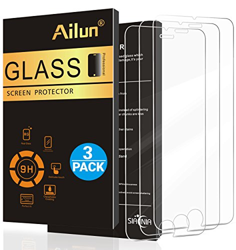iPhone 8 7 6 6s plus Screen Protector[3 Pack]by Ailun,2.5D Edge Tempered...