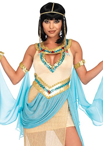 Leg Avenue Women's Sexy Queen Cleopatra Costume, Gold -