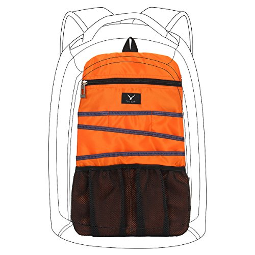 Hynes Eagle Universal Backpack Insert Organizer Travel Bag Slip Gadget Organization Kit Sunny Orange