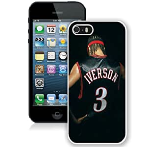Popular And Durable Custom Designed Case For iPhone 5 With Allen Iverson Back White Phone Case