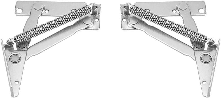 2 unids Acero Inoxidable Heavy Duty Gas Spring Tapa de la Bisagra de Apoyo Con Cierre Suave Soporte para Gabinete Armario Armario Armario Puerta